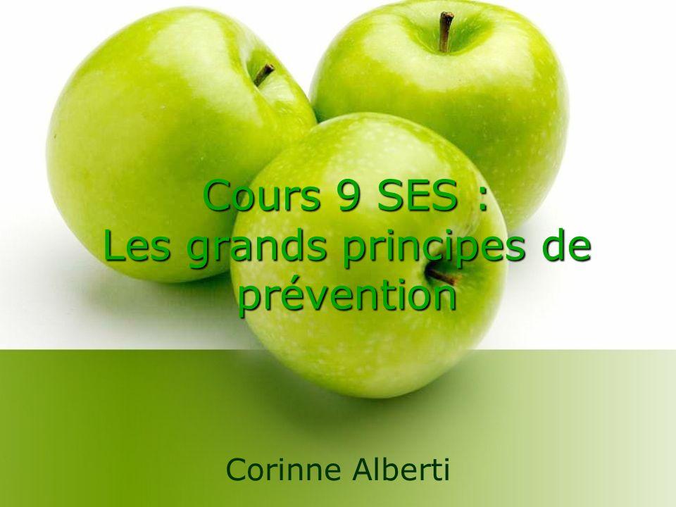 Cours 9 SES : Les grands principes de prévention Corinne Alberti