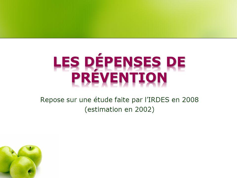 Repose sur une étude faite par lIRDES en 2008 (estimation en 2002)