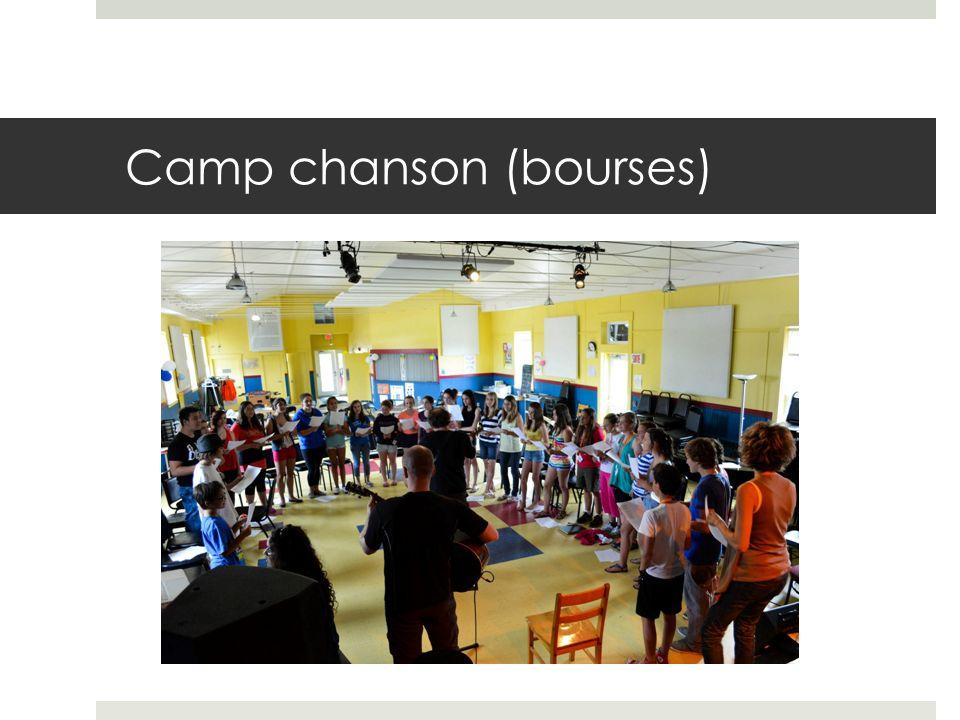 Camp chanson (bourses)