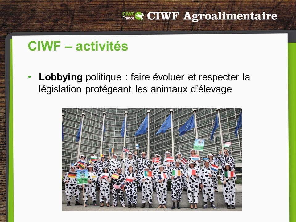CIWF – activités Recherche : production de rapports scientifiques
