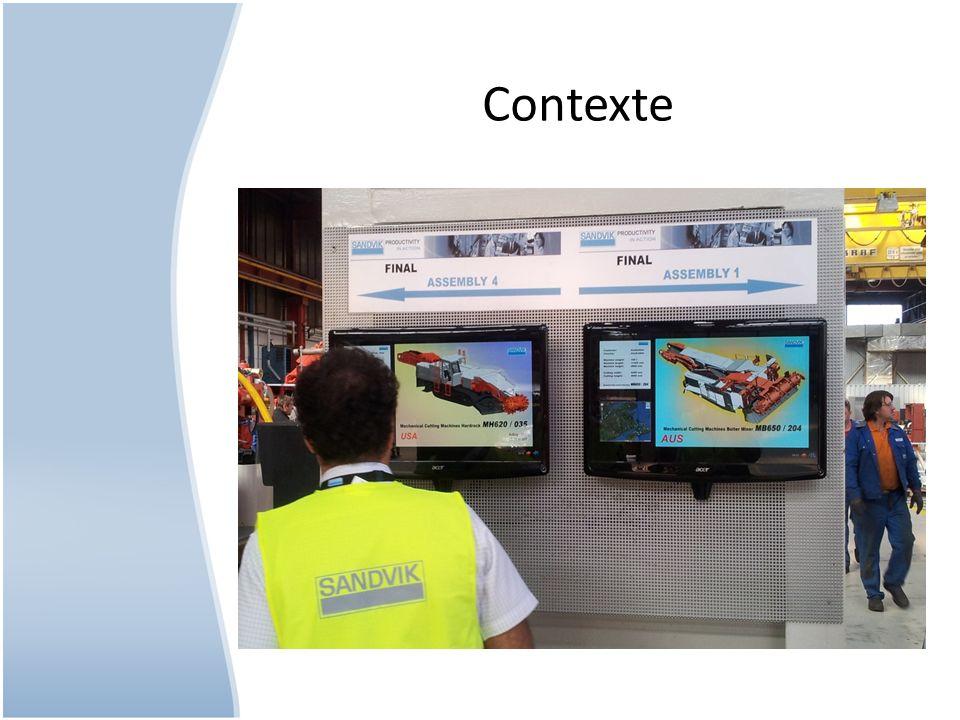 Ecran diffusion accueilEcran production Ecran monitoring IT Ecran machines à café