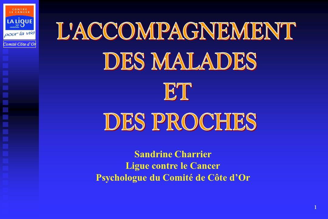 Comité Côte dOr 1 Sandrine Charrier Ligue contre le Cancer Psychologue du Comité de Côte dOr