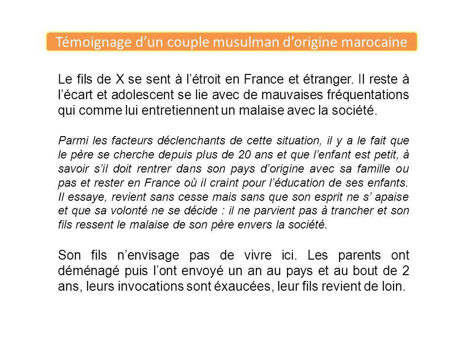 Le fils de X se sent à létroit en France et étranger. Il reste à lécart et adolescent se lie avec de mauvaises fréquentations qui comme lui entretienn