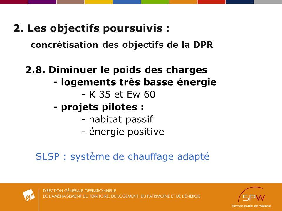 2. Les objectifs poursuivis : concrétisation des objectifs de la DPR 2.8.