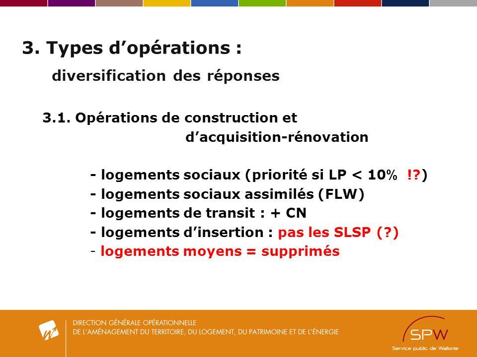 3. Types dopérations : diversification des réponses 3.1.