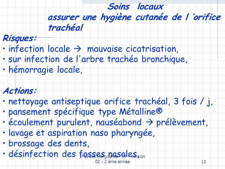 IFSI Ste Marguerite - PP - version 02 - 2 ème année12 surveillance générale du patient CLINIQUE état de conscience, communication code commun .