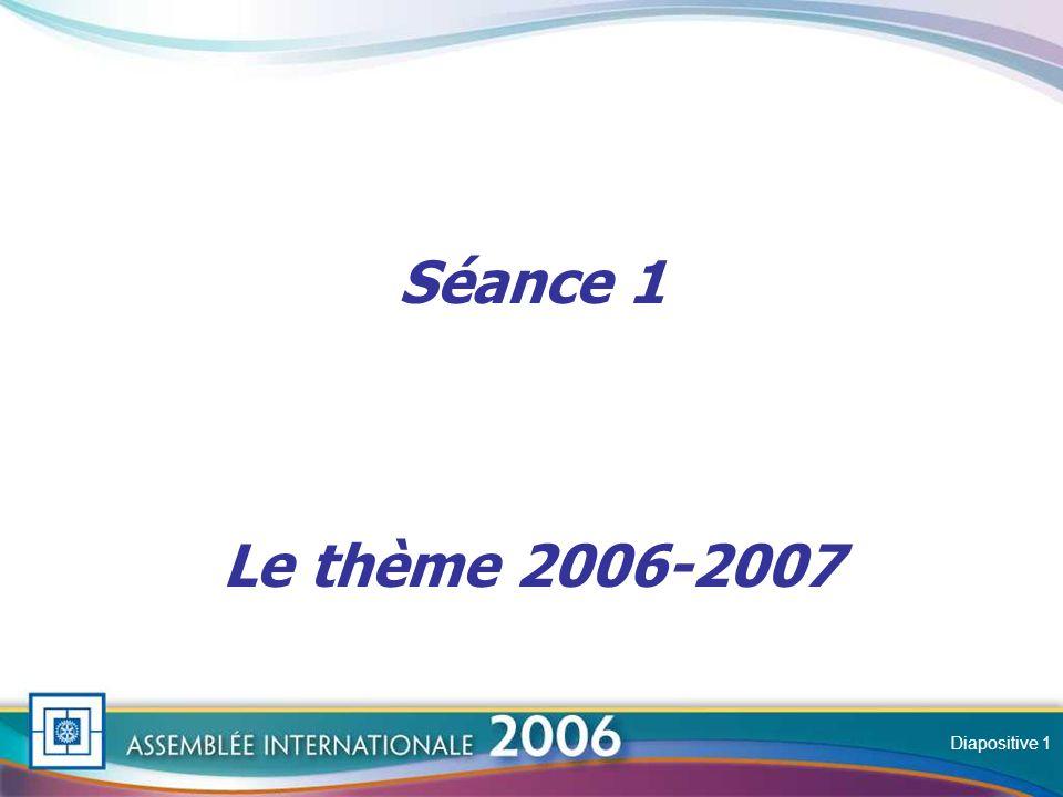 Slide Séance 1 Le thème 2006-2007 Diapositive 1