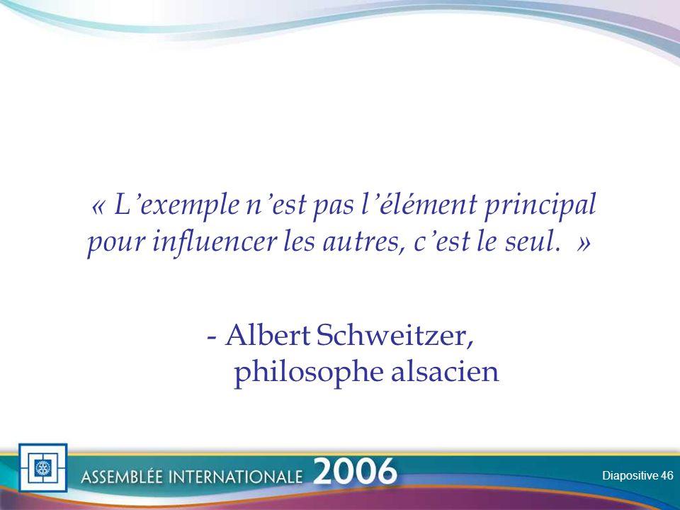 Slide « L exemple n est pas l é l é ment principal pour influencer les autres, c est le seul.