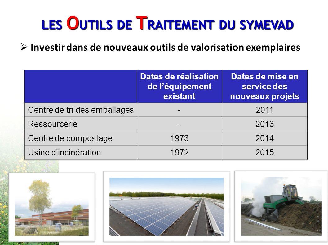 Investir dans de nouveaux outils de valorisation exemplaires LES O UTILS DE T RAITEMENT DU SYMEVAD