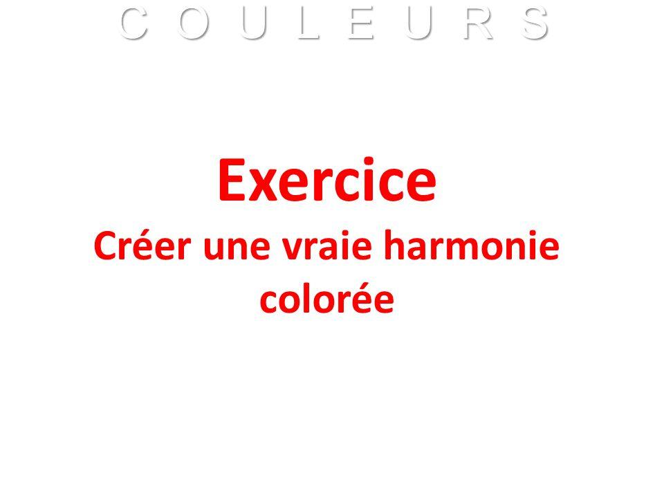 C O U L E U R S Franck VIDAL - CNRS C O U L E U R S Franck VIDAL - CNRS Exercice Créer une vraie harmonie colorée