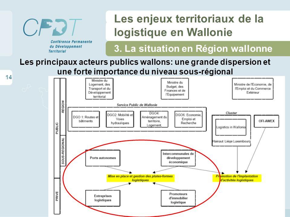 14 Les enjeux territoriaux de la logistique en Wallonie 3.