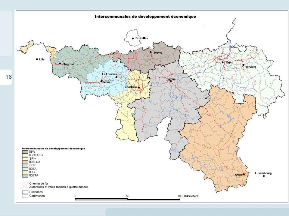 16 Les enjeux territoriaux de la logistique en Wallonie La situation en Région wallonne