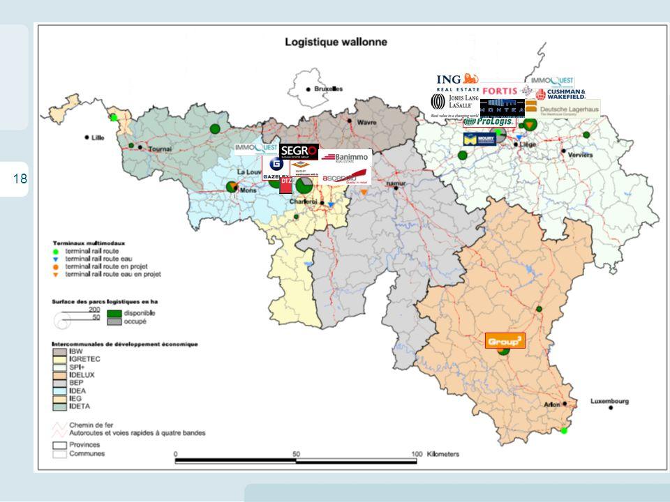 18 Les enjeux territoriaux de la logistique en Wallonie