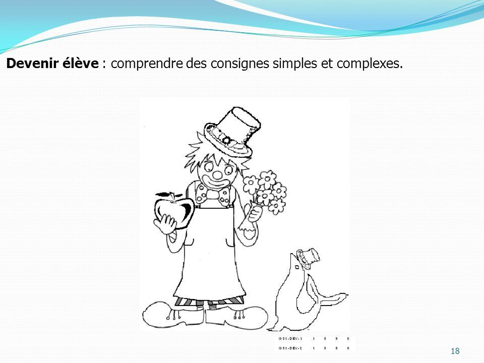 18 Devenir élève : comprendre des consignes simples et complexes.