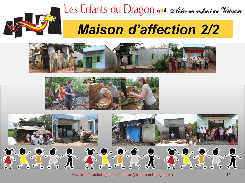 Maison daffection 2/2 www.lesenfantsdudragon.com / contact@lesenfantsdudragon.com 12