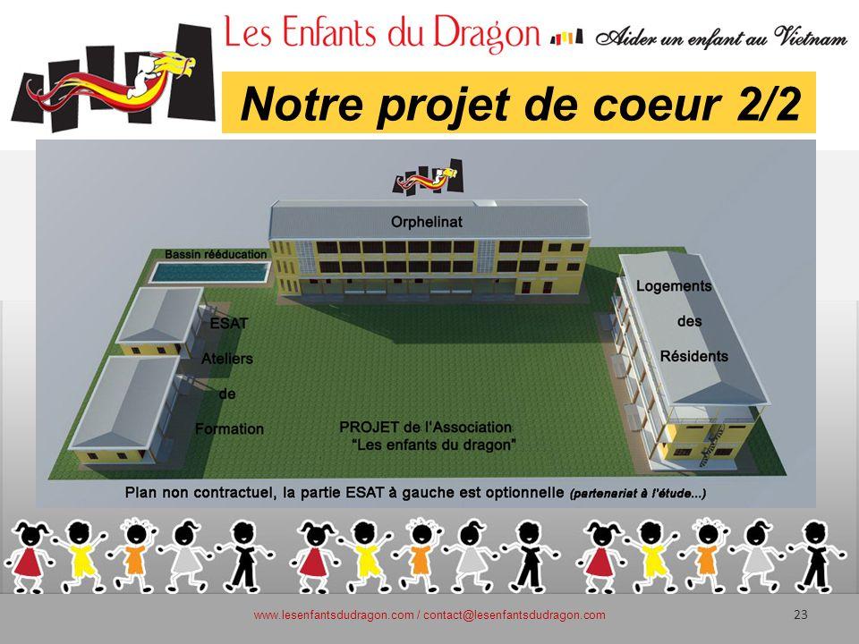 Notre projet de coeur 2/2 www.lesenfantsdudragon.com / contact@lesenfantsdudragon.com 23