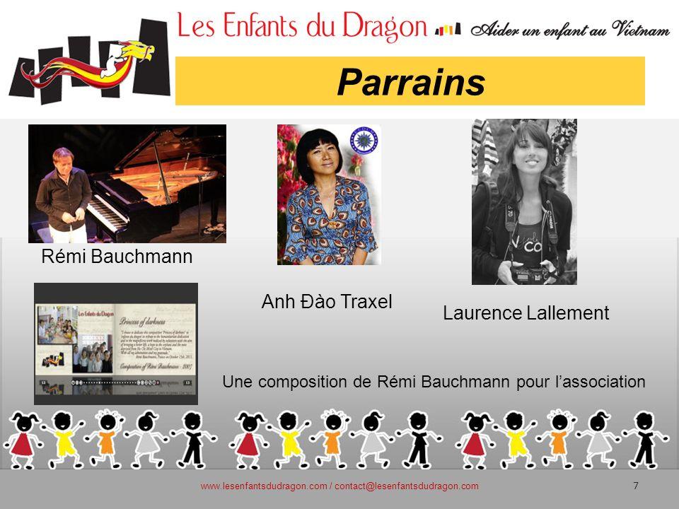 Parrains www.lesenfantsdudragon.com / contact@lesenfantsdudragon.com 7 Une composition de Rémi Bauchmann pour lassociation Anh Đào Traxel Rémi Bauchma