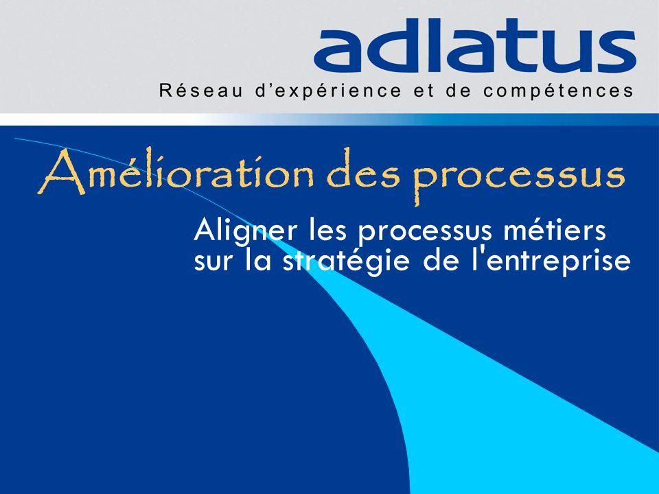 Amélioration des processus Aligner les processus métiers sur la stratégie de l'entreprise