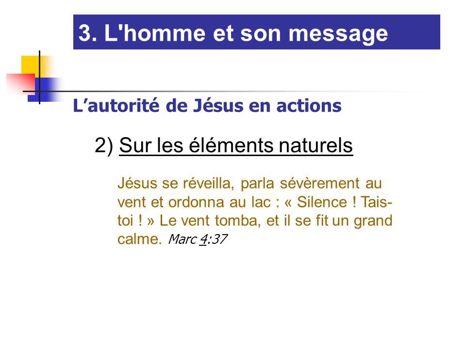 Jésus se réveilla, parla sévèrement au vent et ordonna au lac : « Silence .