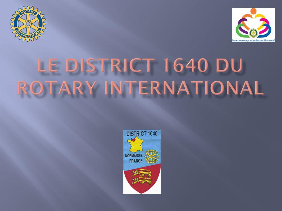 Les Rotary Clubs sont regroupés en districts à des fins administratives avec comme seul but daider chaque club à réaliser les objectifs du Rotary (Manuel de procédure page 25).