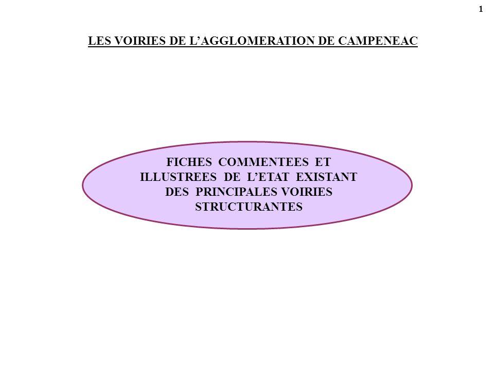 42 CHAPITRE 5 – 1 – ACTIONS CONCERNANT DES ITINERAIRES STRUCTURANTS 4 1 5 2 3 6