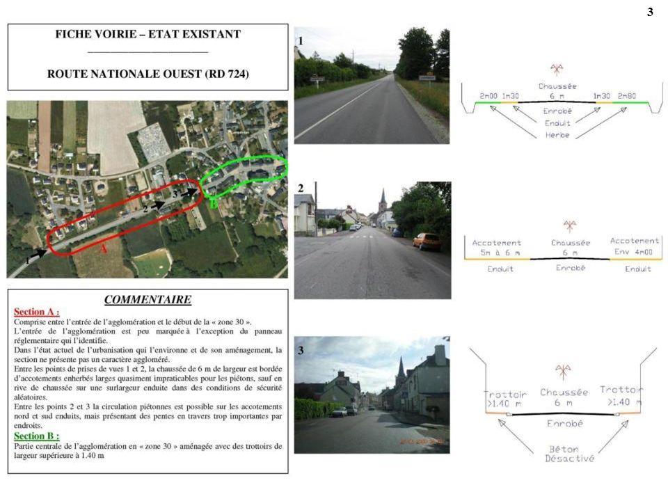 44 ACTION 5-1-2 - ROUTE DAUGAN (RD 134) Cet itinéraire structurant pour piétons permet de raccorder les zones dhabitat actuelles et futures du sud de lagglomération au centre-bourg et aux équipements publics.