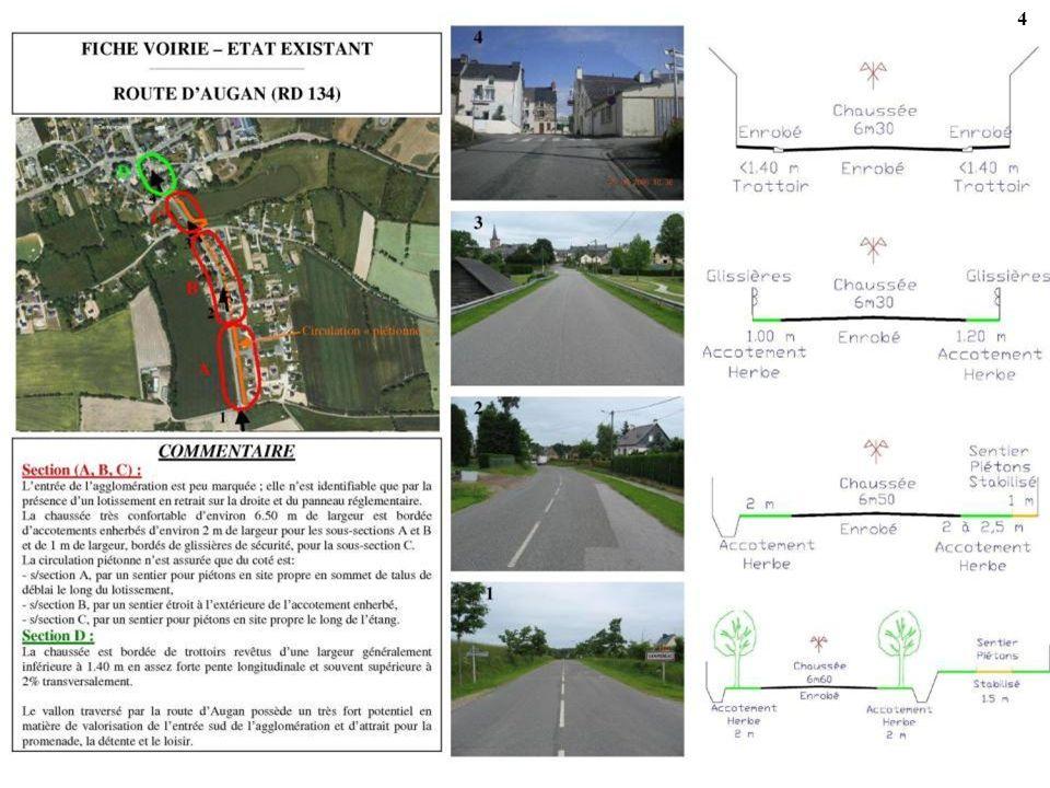 45 ACTION 5-1-3 - ROUTE NATIONALE OUEST (RD 724) Cet itinéraire pour piétons permet dassurer en partie la liaison entre les zones dhabitat existantes et futures situées à louest du centre-bourg.