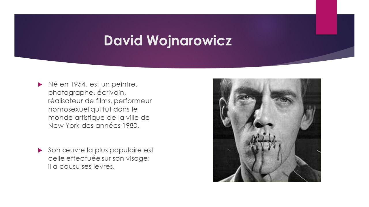 David Wojnarowicz Né en 1954, est un peintre, photographe, écrivain, réalisateur de films, performeur homosexuel qui fut dans le monde artistique de la ville de New York des années 1980.