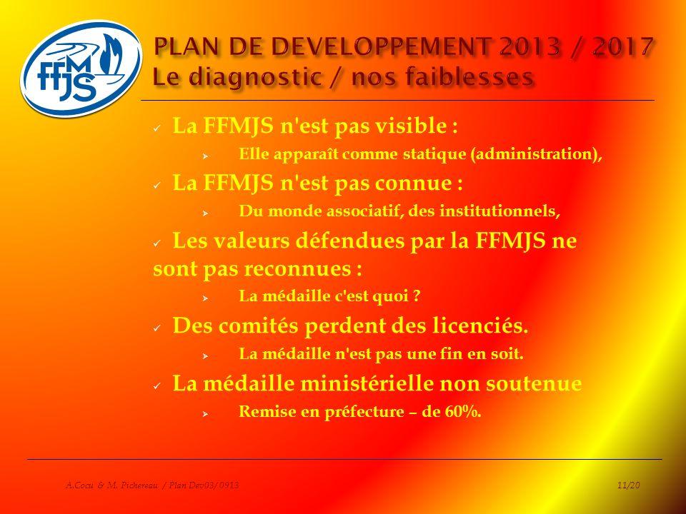 La FFMJS n'est pas visible : Elle apparaît comme statique (administration), La FFMJS n'est pas connue : Du monde associatif, des institutionnels, Les