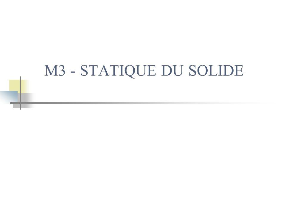 M3 - STATIQUE DU SOLIDE