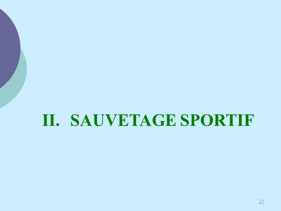 21 II.SAUVETAGE SPORTIF