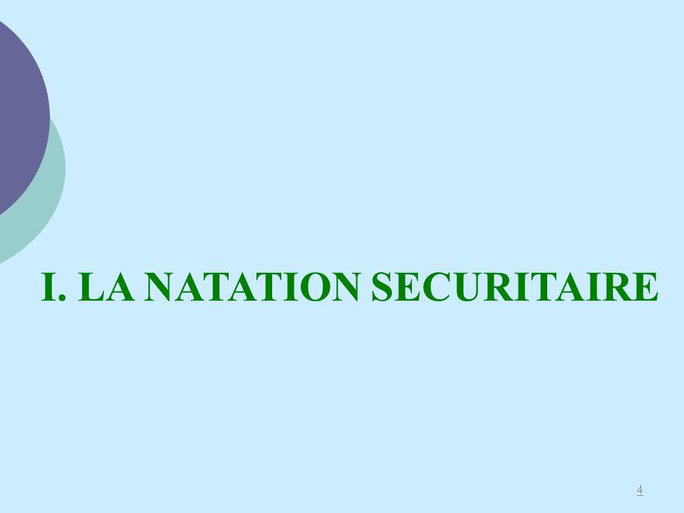 4 I. LA NATATION SECURITAIRE