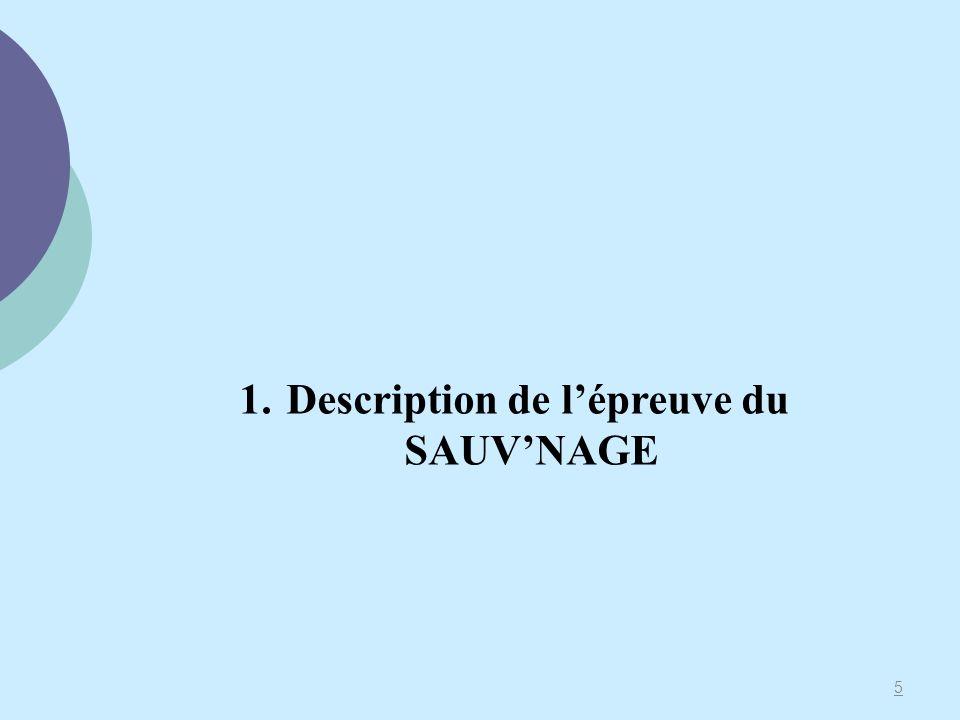 5 1. Description de lépreuve du SAUVNAGE