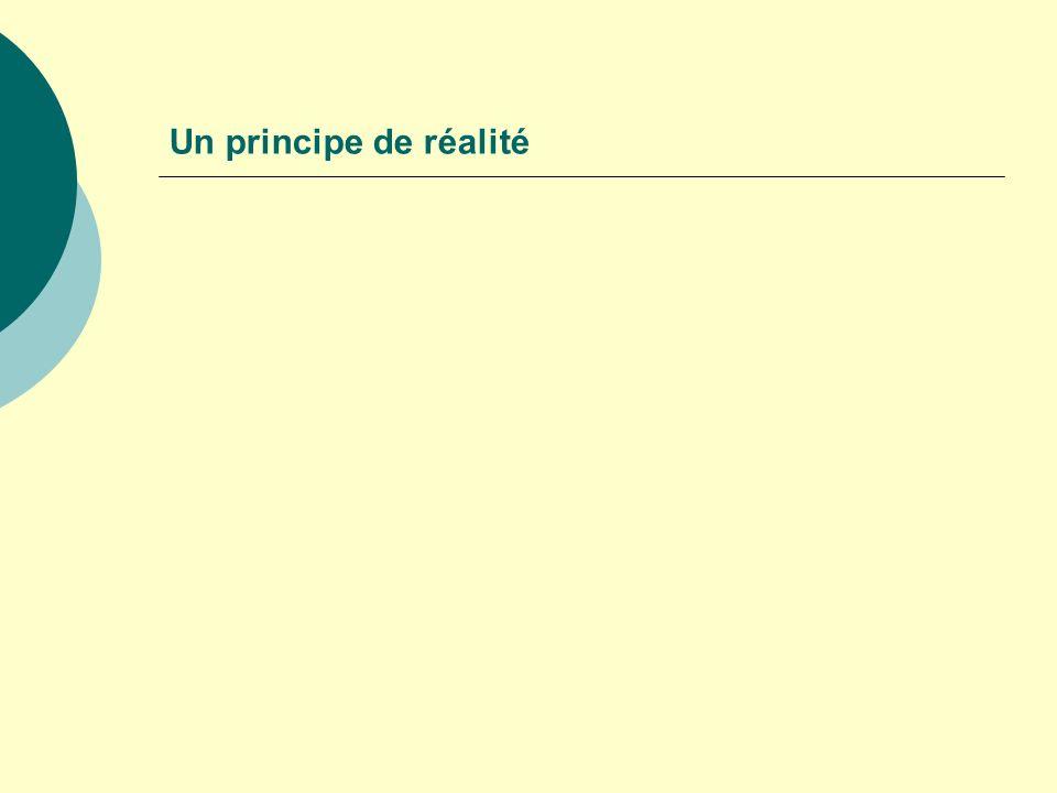 Un principe de réalité
