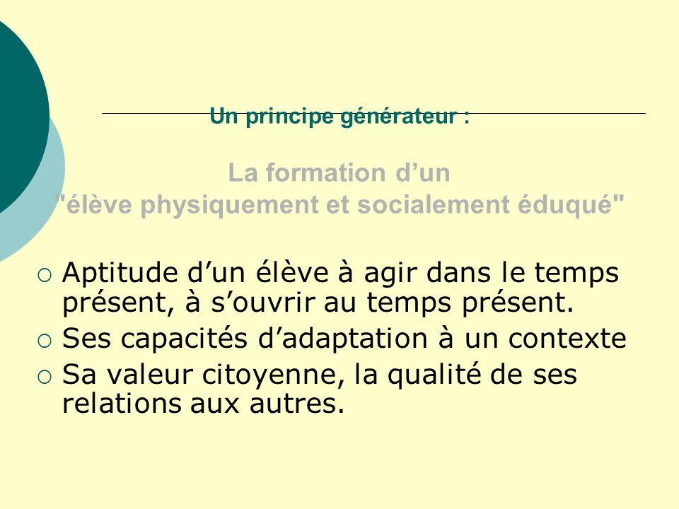 Un principe générateur : La formation dun
