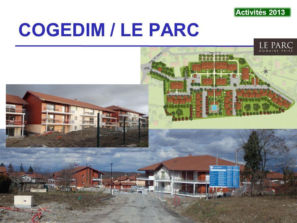 VivraViry - 4 mars 201411 COGEDIM / LE PARC Activités 2013
