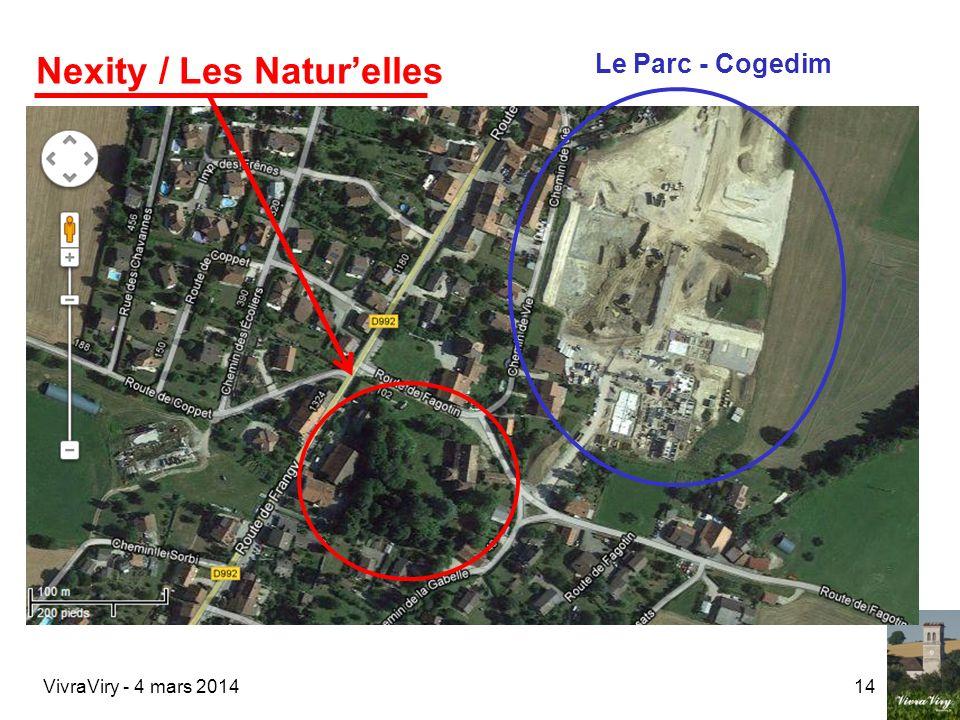 VivraViry - 4 mars 201414 Nexity / Les Naturelles Le Parc - Cogedim