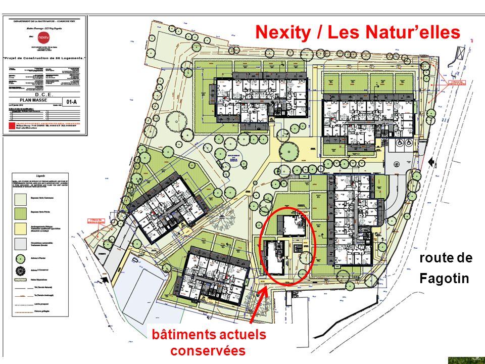 VivraViry - 4 mars 201415 Nexity / Les Naturelles route de Fagotin bâtiments actuels conservées