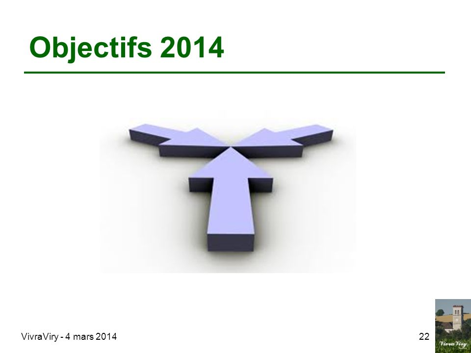 Objectifs 2014 VivraViry - 4 mars 201422