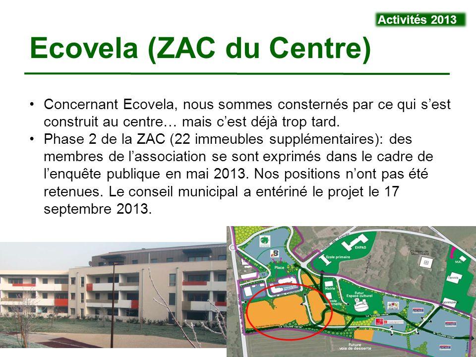 VivraViry - 4 mars 20149 Concernant Ecovela, nous sommes consternés par ce qui sest construit au centre… mais cest déjà trop tard. Phase 2 de la ZAC (