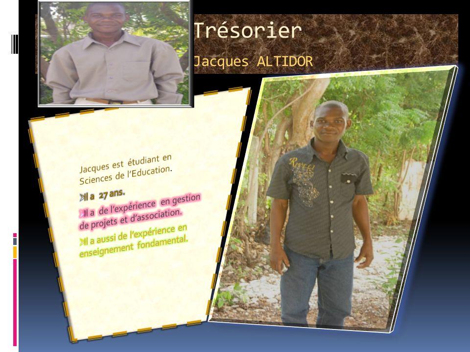 Trésorier Jacques ALTIDOR