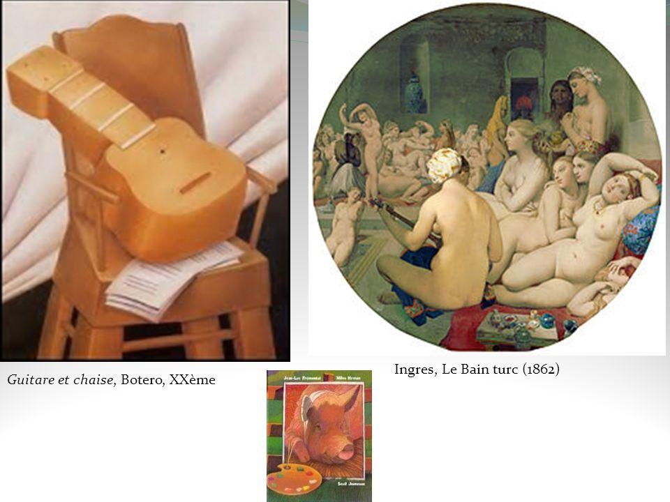 Guitare et chaise, Botero, XXème Ingres, Le Bain turc (1862)
