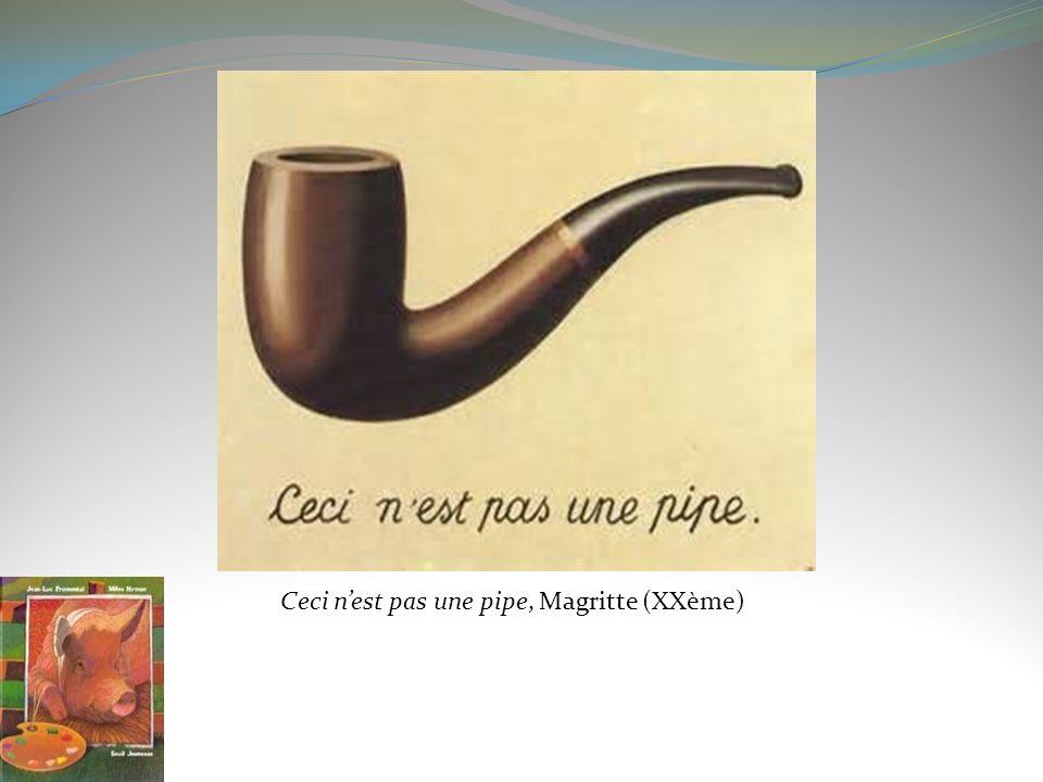 Ceci nest pas une pipe, Magritte (XXème)