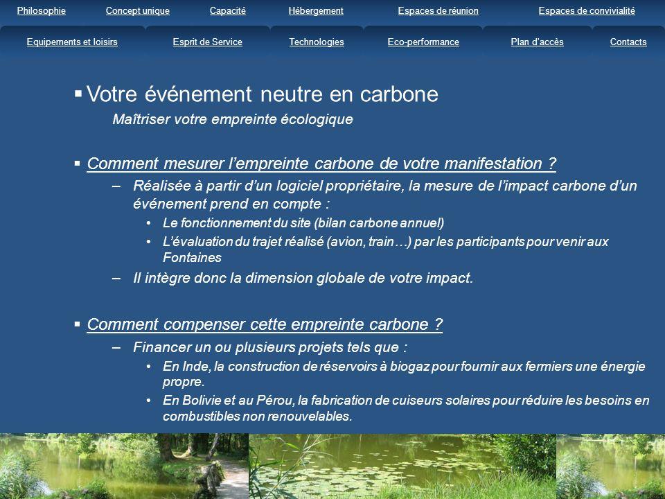 Votre événement neutre en carbone Maîtriser votre empreinte écologique Comment mesurer lempreinte carbone de votre manifestation .