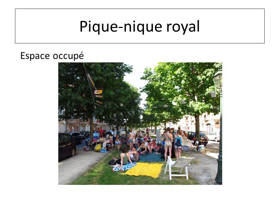 Pique-nique royal Espace occupé