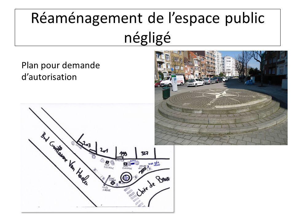 Réaménagement de lespace public négligé Plan pour demande dautorisation