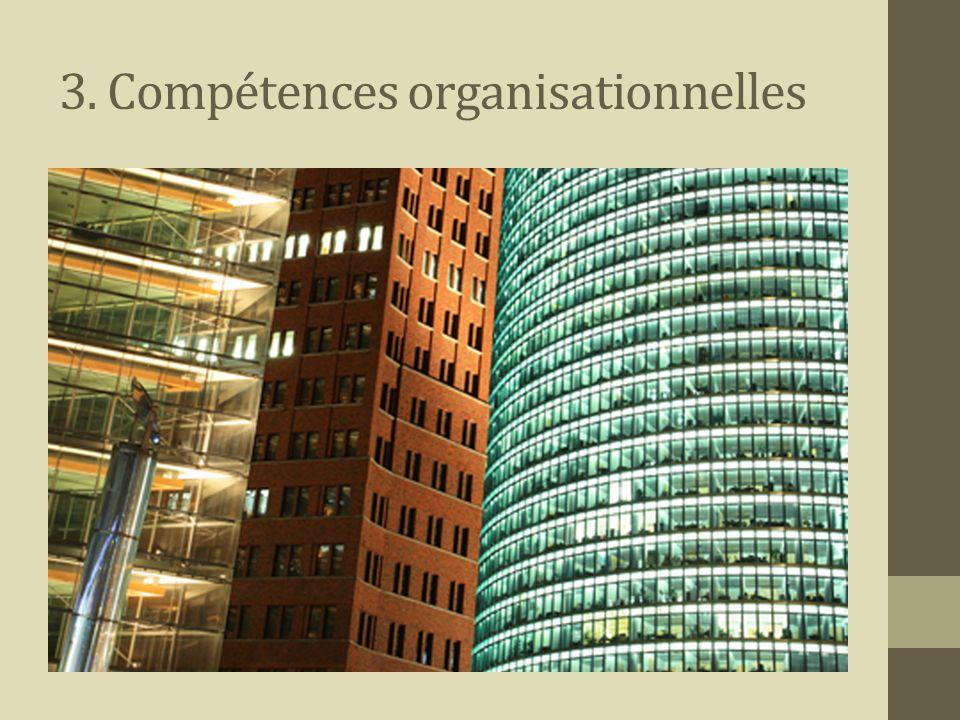 3. Compétences organisationnelles