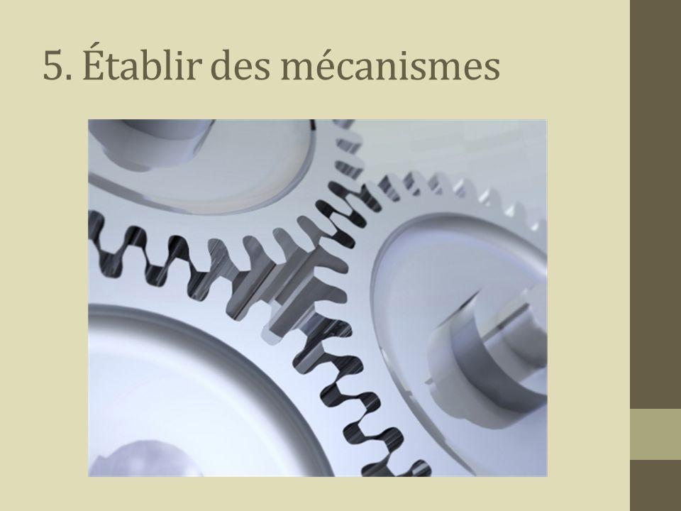 5. Établir des mécanismes