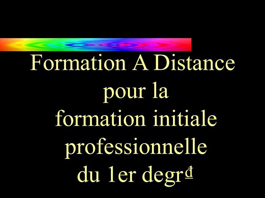 Formation A Distance pour la formation initiale professionnelle du 1er degr