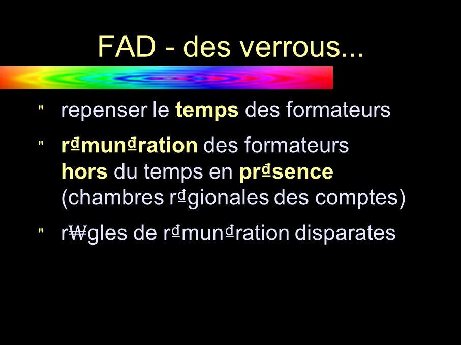 FAD - des verrous...